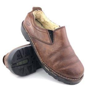 UGG Australia Brown Leather Slip-on Loafers Mens 8